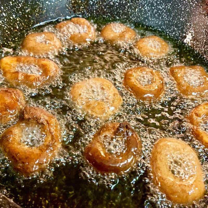 Pas 3 recepta de rosquilles amb oli d'oliva